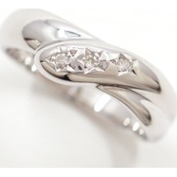 K14 14-karat gold WG white gold ring 10.5 diamond used jewelry ★★ giftwrapping for free