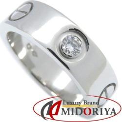 Cartier Cartier love ring 1P diamond Pt950 #49 9 B4046700 platinum ring /092340