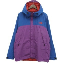 THE NORTH FACE scoop jacket purple X blue size: XL (the North Face)