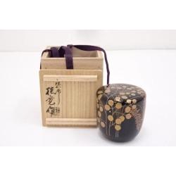 塗師多田桂寛造漆塗萩露蒔絵中棗 [tea ceremony / tea set / tea service set / curio / tea / jujube]