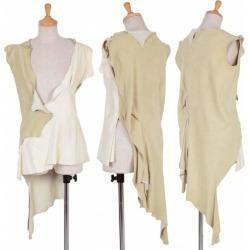 (SALE) Yohji Yamamoto FEMME Suede Sleeveless shirt