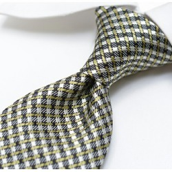 Men silk 100% check black khaki black / Italy brand gift ITALY made in TOM FORD Tom Ford tie Italy found on Bargain Bro Philippines from Rakuten Global for $154.00