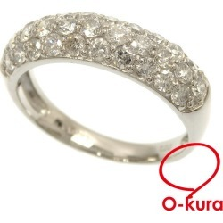 Diamond ring Lady's Pt900 12 1.00ct 4.3 g platinum diagram ring deep-discount pawnshop exemption from taxation A6022727