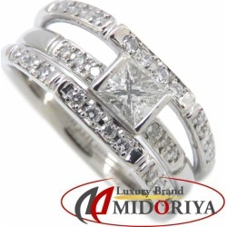 Diamond ring Pt900 diamond 0.38ct 0.20ct 15 platinum ring Lady's jewelry /63499