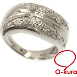 Diamond ring Lady's Pt900 12 0.12ct 8.8 g platinum diagram ring deep-discount pawnshop exemption from taxation A2170242