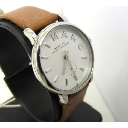 MARC BY MARC JACOBS mark by mark Jacobs watch MBM1270 brown silver-white clockface leather belt quartz analog Lady's watch Higashiosaka store 337554 RY1434