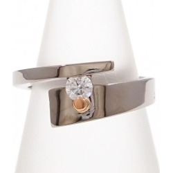 K18 18-karat gold WG white gold PG ring 13 diamond 0.19 used jewelry ★★ giftwrapping for free
