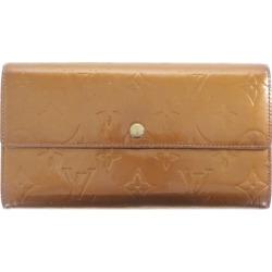 Louis Vuitton monogram ヴェルニ ポ シェットポルトモネクレディ, long wallet /M91174/ bronze system /LOUIS VUITTON ■ 304070