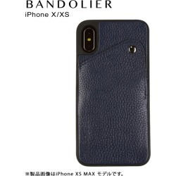 Band re-yeah BANDOLIER iPhone XS X case smartphone carrying eyephone leather ALEX NAVY men gap Dis navy