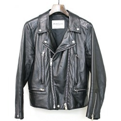 UNDER COVER under cover 14SS DOUBLE LEATHER RIDERS double riders leatherette jacket black 1 men