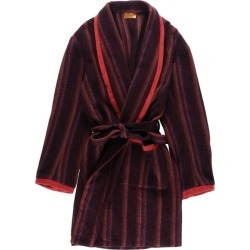 Men M /wbf2321 made in the wool gown room robe U.K. with the Lengo multi-stripe shawl collar waist belt