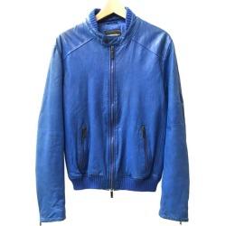 It is Emporio Armani SIZE 46 (L) leather blouson M1B24P M1P29 EMPORIO ARMANI men until - 9/11 1:59 at 9/9 18:00