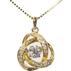 Dancing stone, Triple Excellent/ triple excellent diamond necklace pendant /K18YG/750-3.9g/0.301ctGSI13EX-N/FD: 0.1ct/ center jewel research institute ■ 286965