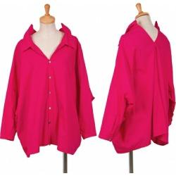ジュンヤワタナベコムデギャルソン JUNYA WATANABE COMME des GARCONS wide elaborately designed shirt pink XS