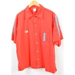 Men XL vintage /wbb5275 in the 80s made in Hilton HILTON bowling shirt USA