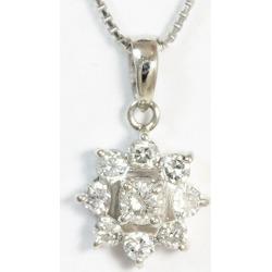 Diamond 0.50ct necklace platinum (Pt850) jewelry netshop in total