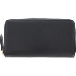 Gucci round fastener long wallet logo carved seal /410102/ black / gold /GUCCI/b190928 ■ 311365