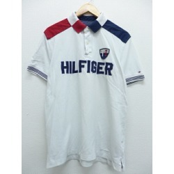 Old clothes ポロシャツトミーヒルフィガー TOMMY HILFIGER white white large size used men short sleeves tops Spring clothes summer clothing summer clothes casual shirt men fashion short sleeves shirt fashion for spring is casual in the spring and summer
