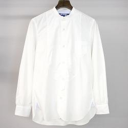 JUNYA WATANABE COMME des GARCONS MAN ジュンヤワタナベコムデギャルソン 16SS cotton broad no-collar shirt men white XS