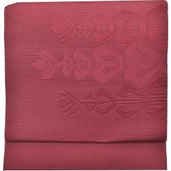 Recycling Nagoya style sash newly made pure silk fabrics 8 sun なごやおび purple system flower pattern quality goods ★★★ recycling obi mm0912b