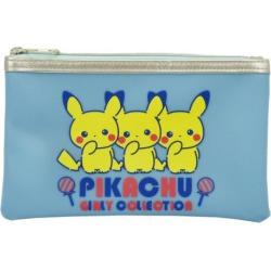 To Pikachu logo Pokemon pencil case Pocket Monster Small planet 19*12cm pen case teens miscellaneous goods mail order marshmallow pop 10/29