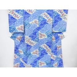 Unused article pine, bamboo, and plum, peony, chrysanthemum design fine pattern kimono sect sou