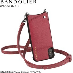 BANDOLIER NICOLE MAGENTA RED band re-yeah iPhone XS X case shoulder smartphone eyephone leather men gap Dis magenta red 10NIC1001 [load planned reentry load in reservation product 7/30 containing]