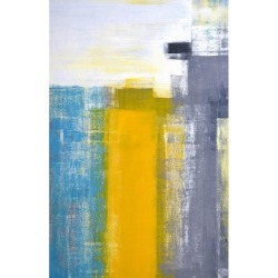 To Teal and Yellow Abstract Art Painting art panel modern art beauty mechanic company 53*80*4cm frameless gift decoration interior mail order marshmallow pop 10/29