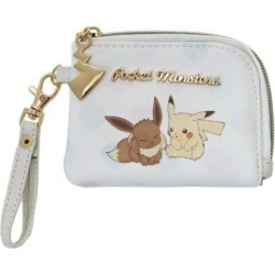 To Pikachu & E buoy Pokemon pass holder & coin purse Pocket Monster Maruyoshi commuting attending school miscellaneous goods chip card case teens miscellaneous goods mail order marshmallow pop 10/29