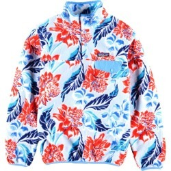 Patagonia Patagonia SYNCHILLA シンチラ floral design fleece pullover Lady's M /wbh6923 made in 15 years