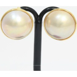 Pearl Pteria penguin pearl earrings 18-karat gold yellow gold (K18YG) jewelry netshop