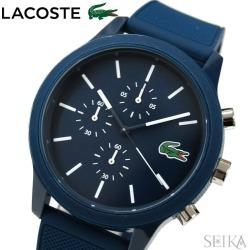 The watch that Lacoste LACOSTE 12.12 2010970 (147) clock watch men navy rubber is blue