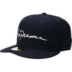 シュプリーム /SUPREME X new gills /NewEra classical music script logo baseball cap (7 1/4/ navies) bb30#rinkan*C