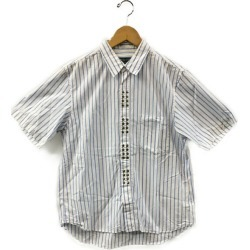 It is コムデギャルソン SIZE SS (less than XS) studs stripe cotton shirt AD2006 COMME des GARCONS men until - 9/11 1:59 at 9/9 18:00