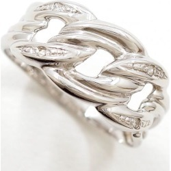 K10 10 gold WG white gold ring 11 diamond 0.02 used jewelry ★★ giftwrapping for free