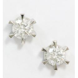 One diamond 0.516ct/0.506ct pierced earrings Pt (platinum) jewelry netshop