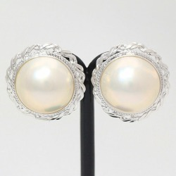 Pearl mabe pearl earrings 14-karat gold white gold (K14WG) jewelry netshop
