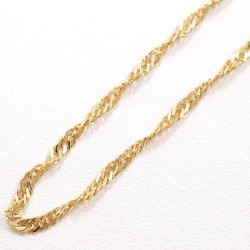 Two K18 18-karat gold YG yellow gold necklace metal approximately 5.3 g approximately 40cm Kihei Kihei double screw used jewelry ★★ giftwrapping for free
