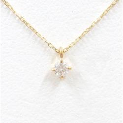 エテ K18YG necklace diamond 0.06 used jewelry ★★ giftwrapping for free
