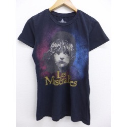 Old clothes Lady's T-shirt movie Les Miserables black black is used