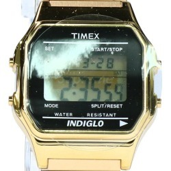 シュプリーム /SUPREME X Timex /TIMEX box logo Timex digital watch (gold) bb229#rinkan*S
