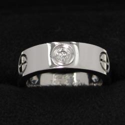Cartier love ring / half diamond #47 (the Japanese size 7 neighborhood)