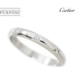 Cartier Cartier 1895 classical music diamond 3P #49 ring Pt950 platinum ring