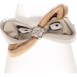 PT900 platinum K18PG ring 15 diamond 0.092 card differentiation book used jewelry ★★ giftwrapping for free