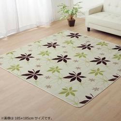 "Rag carpet ""WS planter"" green approximately 185*185cm (hot carpet correspondence) 9810937"