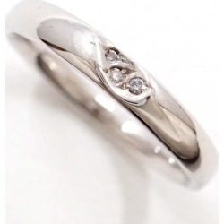 K10 10 gold WG white gold ring 10 diamond 0.02 used jewelry ★★ giftwrapping for free