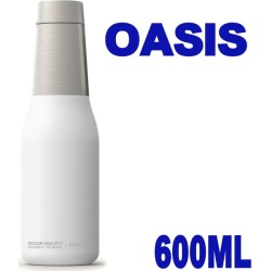 Asobu OASIS which a マグボトルアソブオアシスホワイト 600 ml water bottle stainless steel bottle thermal insulation cool vacuum insulation direct drink joke has a cute