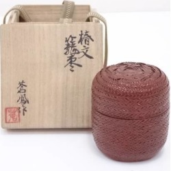 勝城蒼鳳造椿文籠棗 [tea ceremony / tea set / tea service set / curio / tea / jujube]