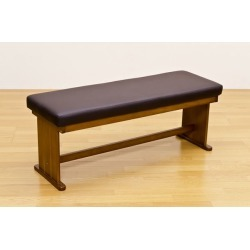 Dining bench chair / stool 木製張地: It includes the synthetic leather / 合皮 BRISTOL brown postage!