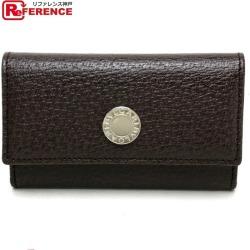 AUTHENTIC BVLGARI Unused Men's Women's Bulgari Bulgari 6-RingKey Case key Key Case Leather/